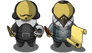 William Shakespeare y Miguel de Cervantes